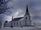 Winter Rural Church