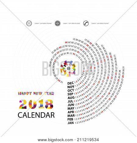 2018 calendar template spiral calendar calendar 2018 set of 12