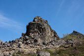 Rock Formation Against Blue Sky