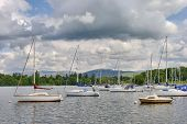 moored boats on Windermere