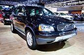 Moscow, Russia - August 25: Black Jeep Car Volvo Xc90  At Moscow International Exhibition Interauto