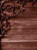 Grunge Wood And Iron Background