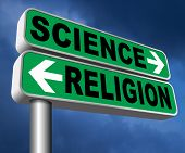 science religion intelligent design or Darwinism relationship between belief in God faith and realit poster
