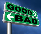 good bad a moral dilemma about values and principles right or wrong evil or honest ethics legal or i poster