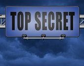 top secret confidential and classified information private property or information road sign  3D, il poster