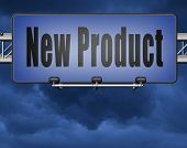 new product coming soon announcement arriving and available soon advertising news, road sign, billbo poster
