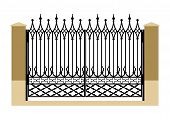Forged Iron Gothic Gate