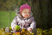 Baby and autumn