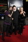 LOS ANGELES - APR 10: Bam Margera, April Margera, Phil Margera at the Jackass 3D premiere held at Gr
