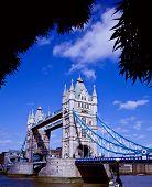 Tower Bridge crosses River Thames