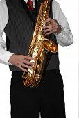 Playing Shiny Saxophone #2 (isolated)