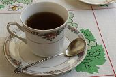Antique Tea Spoon And Tea Cup