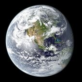High resolution rendering of planet Earth
