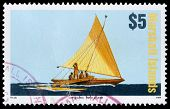 A 5-dollar Stamp Printed In The Republic Of The Marshall Islands