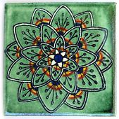Square Mexican tile shape