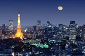 Tokyo Tower in Minato Ward, Tokio, japan