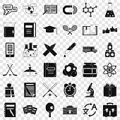College Icons Set. Simple Style Of 36 College Icons For Web For Any Design poster