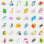 College Education Icons Set. Isometric Style Of 36 College Education Icons For Web For Any Design poster