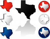 picture of texas map  - State of Texas Icons in Red White and Blue - JPG
