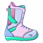 Ski Boot Icon. Cartoon Of Ski Boot Icon For Web Design Isolated On White Background poster
