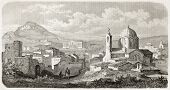 Panoramic view of Athens showing the Royal Palace. Created by Pierron, published on L'Illustration, Journal Universel, Paris, 1863