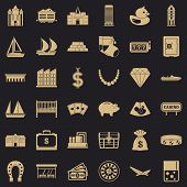 Wealth Icons Set. Simple Style Of 36 Wealth Icons For Web For Any Design poster