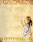 pic of isis  - Wall with Egyptian goddess image  - JPG