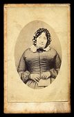 Mourning Victorian Lady Antique Photo