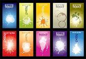 Постер, плакат: Коллекция красочных визитной карточки с splash