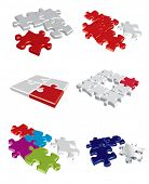 Colorful vector puzzle concepts