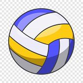 Volleyball Ball Icon. Cartoon Illustration Of Volleyball Ball Vector Icon For Web Design poster