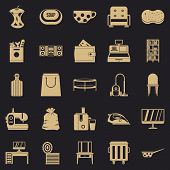 Domesticity Icons Set. Simple Set Of 25 Domesticity Icons For Web For Any Design poster