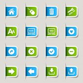 Website and Internet Icons kennzeichnen