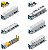 foto of semi trailer  - Vector isometric transport - JPG