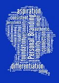 stock photo of differential  - Personal Branding in word collage - JPG