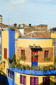Arquitectura histórica de La Candelaria Bogota Colombia