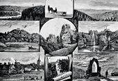 Постер, плакат: Лифляндская Швейцария Гравюра Рашевский Опубликовано в журнале «Ніва» Издательский дом а ф Ма