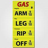 Gas Prices Illustration