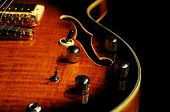 Guitar Hollowbody Closeup