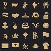 Monument Icons Set. Simple Set Of 25 Monument Icons For Web For Any Design poster