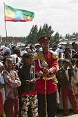 Male Baton Bearers From The Ethiopian Ceremonial Marching Band