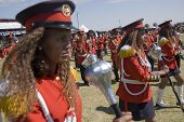 Baton Barers From The Ceremonial Marching Band Marching Past At The World Aids Day Event In Fitche