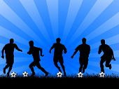 Abstract Soccer Background