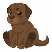 Kid Labrador Icon. Cartoon Of Kid Labrador Vector Icon For Web Design Isolated On White Background poster