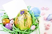 Easter Basket with Blank Card