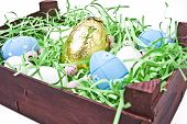 Wooden Crate Of Easter Eggs