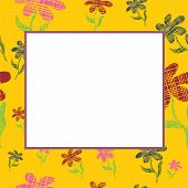 Yellow Frame With Flowers