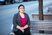 Businesswoman - Relaxing On A Bench