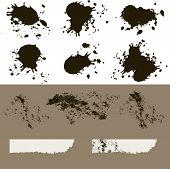 Grunge Ink Splats And Splatters