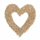 Heart From Hemp Seeds